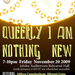 Queerly I Am Nothing New event