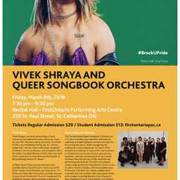 With Queer Songbook Orchestra, Brock University Pride 2019