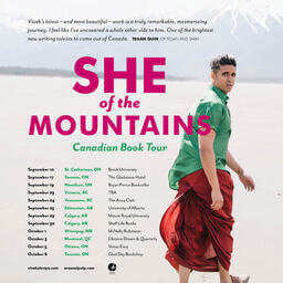 She of the Mountains Canadian book tour