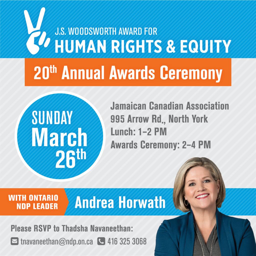 J.S. Woodsworth Award